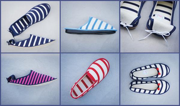 collection de pantoufles françaises